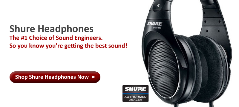 Best Headphones by Shure Full Size Stereo Studio Grade
