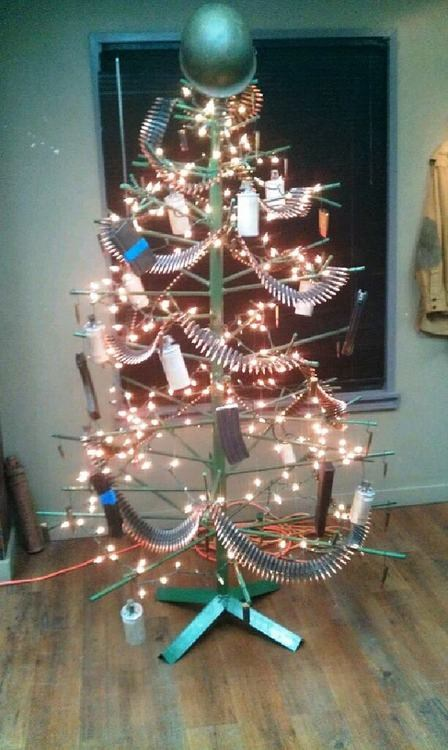 gun Christmas tree topper