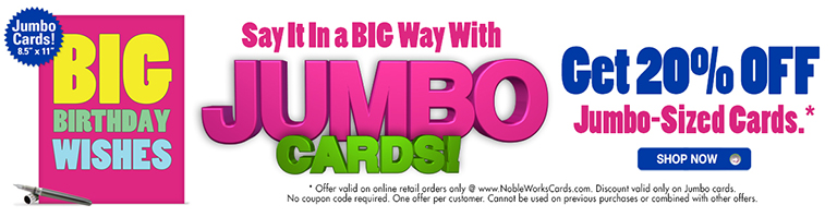 20 off all jumbo cards
