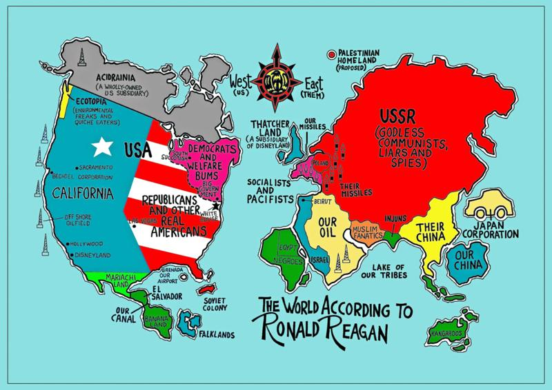 Sarcastic world maps