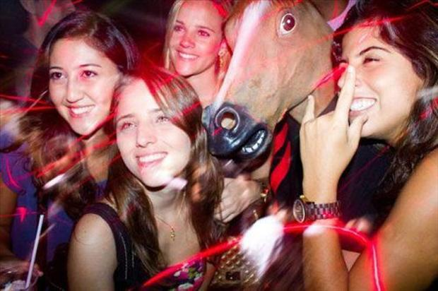 Hilarious horse mask photos