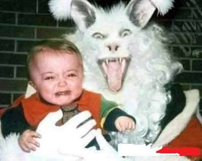 Funny Evil Easter Rabbit