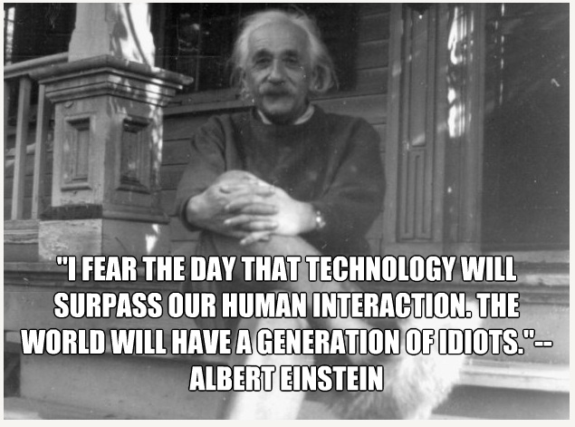 einstein text quote