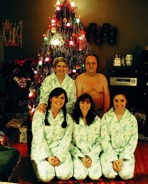 christmas family photo funny