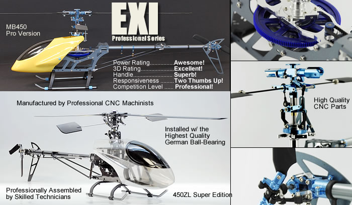EXI Professional RC Helicopters