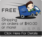 FREE Shipping on Orders $40.00 or More!