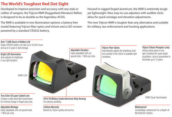 Trijicon RMR Features