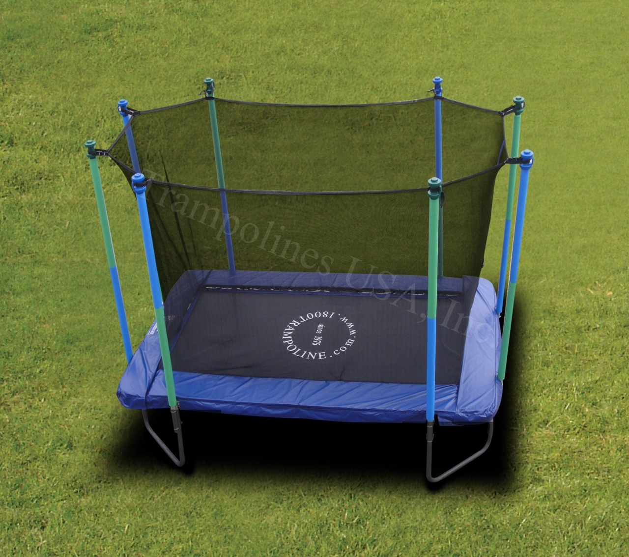 6x9 Rectangular Trampoline With Trampoline Enclosure