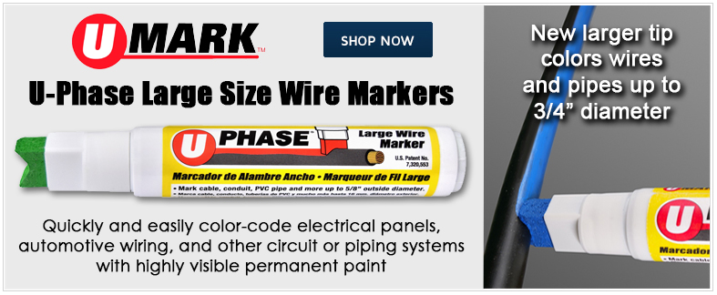 New U-Phase Large Wire Markers