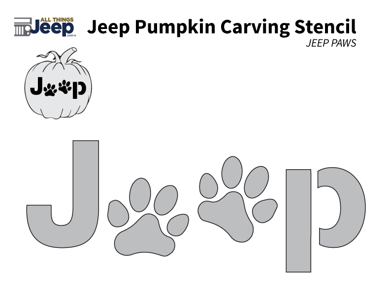 All things jeep jeep pumpkin carving templates jeep paw logo yadclub Gallery