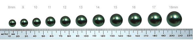 Learn The Full Range Of Sizes In Tahitian Pearls