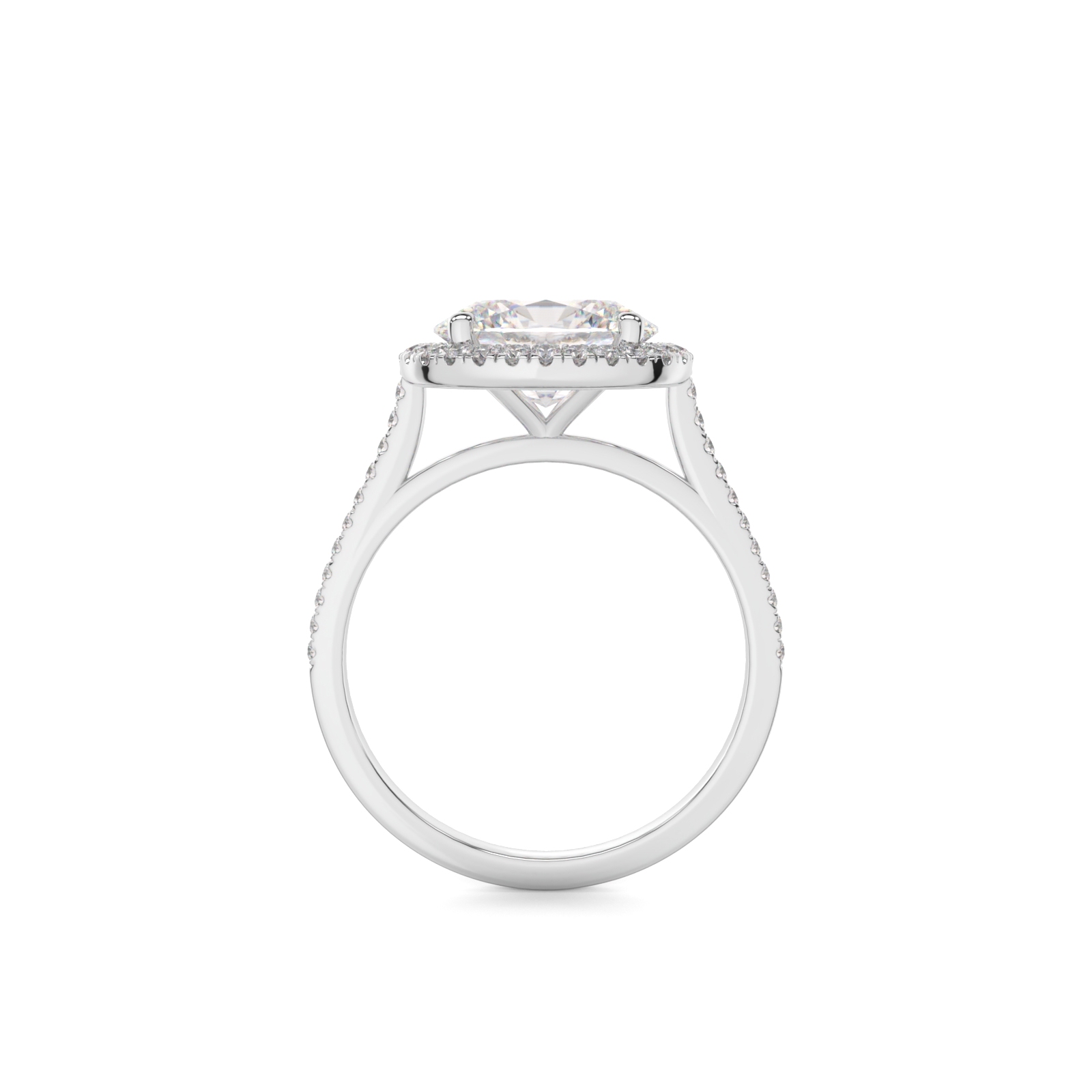 Oval Diamond Engagement Ring Side View