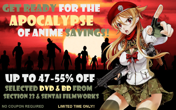 Save 47-55%% Off MSRP On Selected Sentai & Section 23 Anime Titles!!