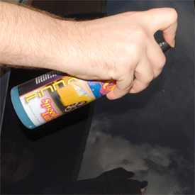 XMT Speed Clay Lube protects the paint during the clay process.