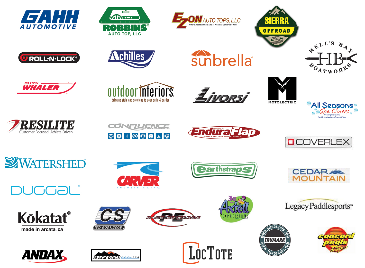 These fine companies, and many others, recommend 303 products to their customers.