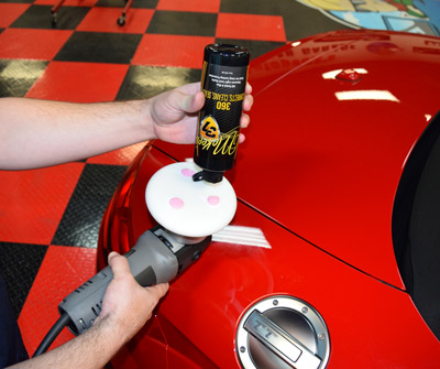 Apply 3 drops of 360 directly onto a foam polishing pad
