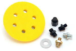 The 3M™ Clean Sanding 3 inch Disc Backing Plate Kit provides a secure hold on 3M sanding and finishing discs.