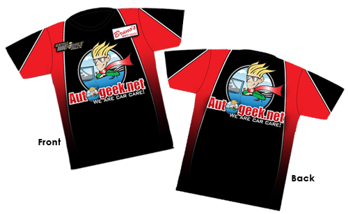 Autogeek Racing Shirt Front and Back