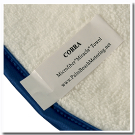 The Cobra Arctic White Miracle Towel is made exclusively for us in Korea.