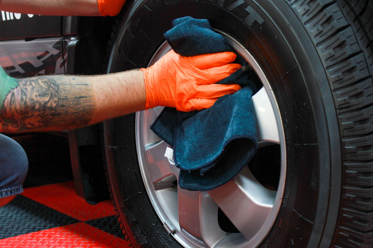 Dry the surface off to avoid waterspots. Enjoy your new smooth and glossy wheel or paint!