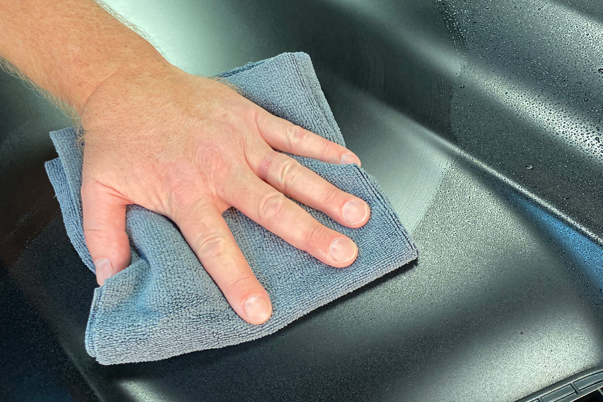 Then just buff it off with a clean microfiber towel and enjoy the clean and protected matte finish!