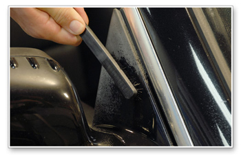 Use the Pre-WOW Trim Detailing Brush to preclean plastic trim.