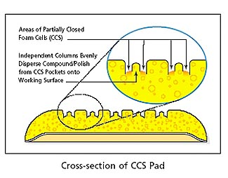 8.5 inch ccs lake country foam pads