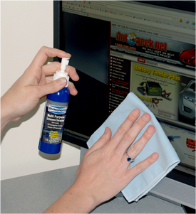 Use Diamondite Multi Purpose Screen Cleaner & Protectant on computer monitors to eliminate and prevent dust and smudges.
