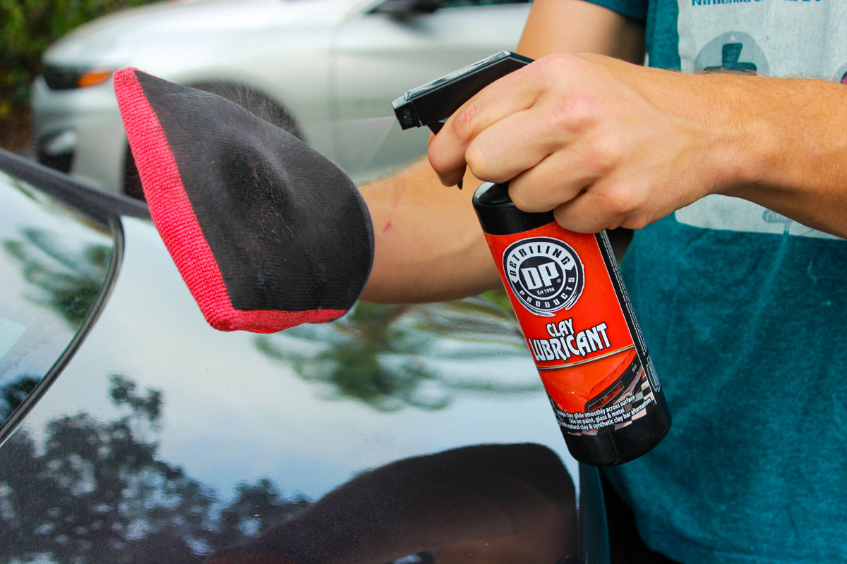 Make sure your clay bar, mitt, or towel is well lubricated with DP Clay Lubricant!