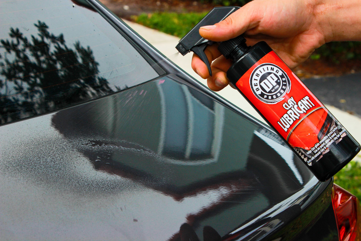 Spray even more DP Clay Lubricant directly onto the surface you are claying to ensure proper lubrication.