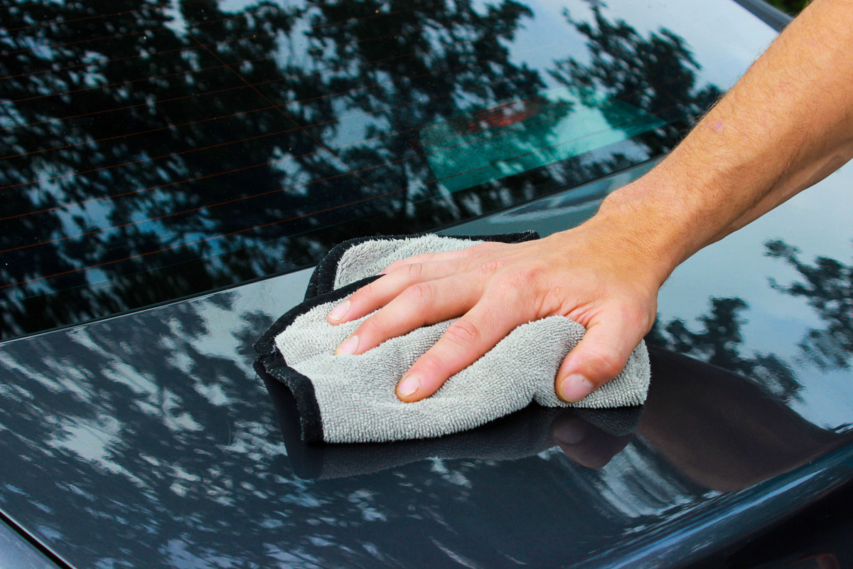 Use a clean microfiber towel to wipe away any excess Lubricant from the sureface.