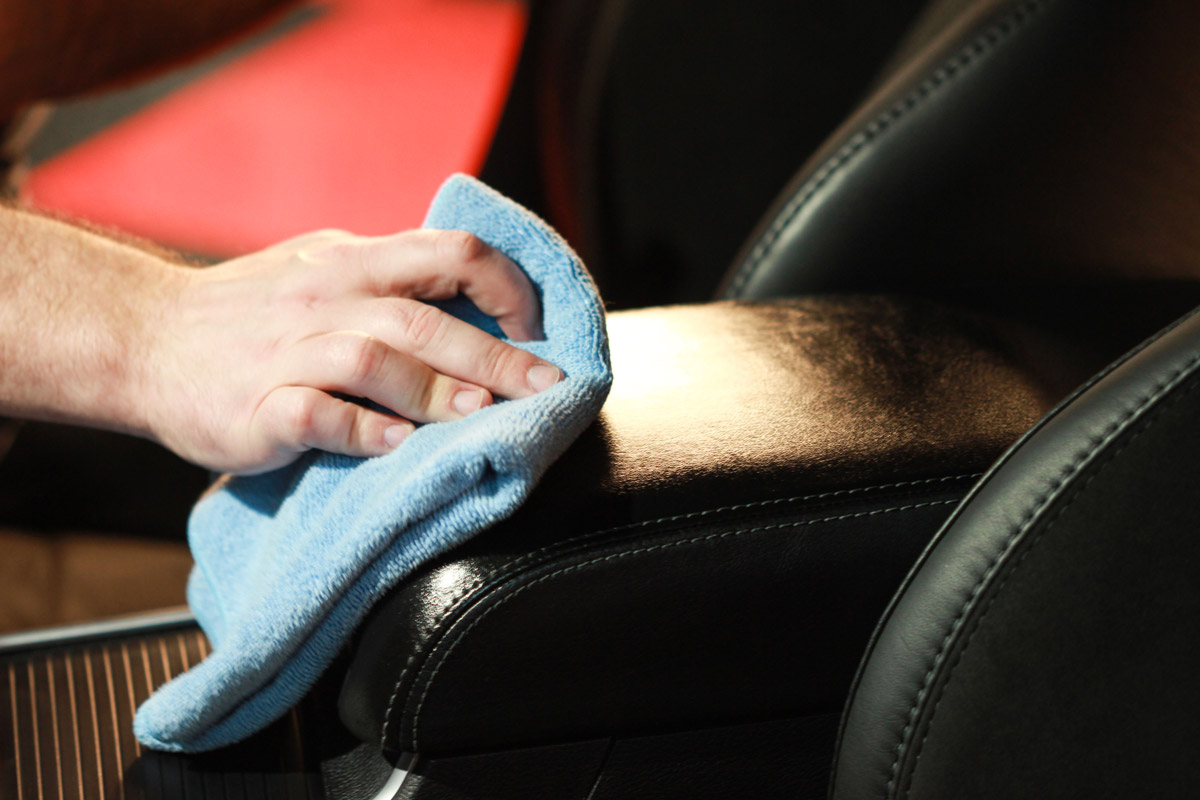 After giving DP VLP Coating a little time to set, use a clean microfiber towel to buff off any excess product.
