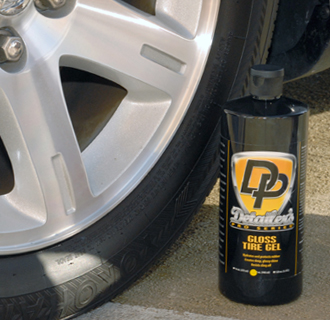 Detailer's Pro Series DP Tire Gel leaves a non-sticky, satin finish like new tires.