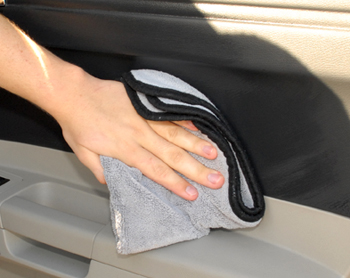 Wipe off Detailer's Pro Series Total Interior Cleaner with a soft microfiber towel.