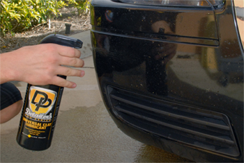 Thoroughly wet the paint with Detailer's Pro Series DP Universal Detailing Clay Lubricant.