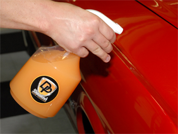 Detailer's Pro Series DP Waterless Wash Concentrate cleans and enhances.
