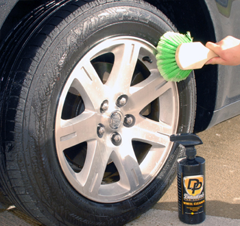 Detailer's Pro Series DP Wheel Cleaner also cleans tires.