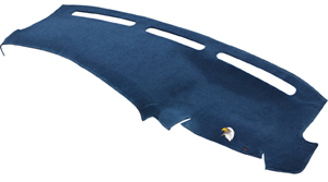 The DashMat custom dashboard cover blocks out UV rays and prevents fading and cracking.