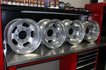 Restored aluminum wheels