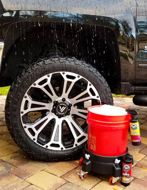 Use DP Hydro Wet Seal at the end of your weekly wash to increase protection and water beading/sheeting!