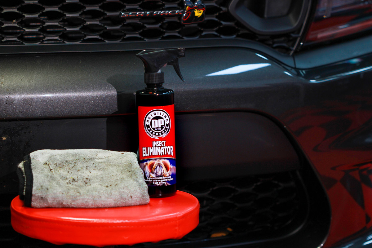 DP Insect Eliminator will leave your car free of pests and safe from etching!