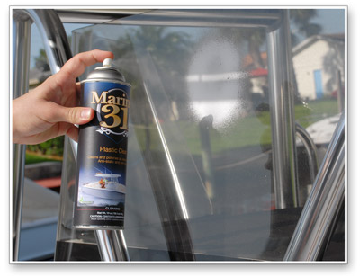 Marine 31 Plastic Clear cleans, polishes, and protects all plastic surfaces!