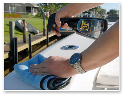 Marine 31 Non-Skid Clear Sealant with Carnauba protects non-skid surfaces!