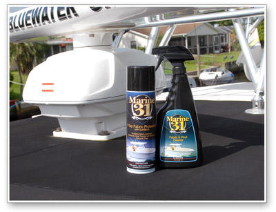 Marine 31 fabric cleaners and protectants provide the best protection for your boat's bimini top