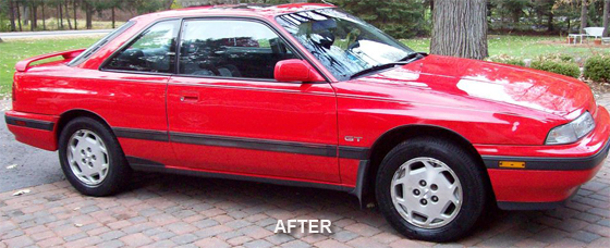 The Pinnacle Xmt Line Of Products Is Very Easy To Use Xmt3 Really Tackled Oxidation On This Mazda S Red Paint Just A Few Minutes Each Panel With