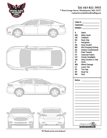 Autogeek Vehicle Inspection Forms