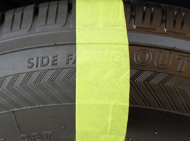 The right side has Wolfgang Black Diamond Tire Gel.