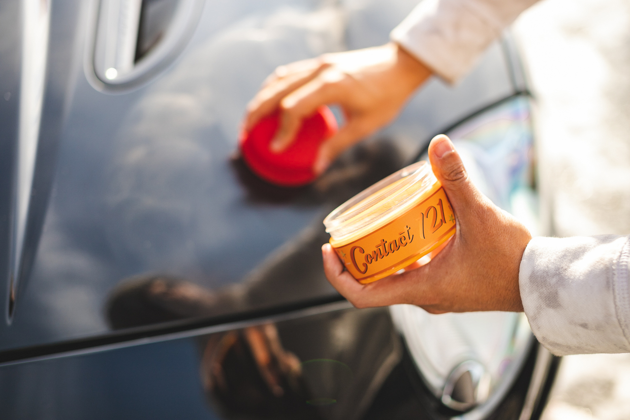 You can apply the wax using a microfiber applicator either one section at a time, or the entire car at once, if you'd like the product to sit.
