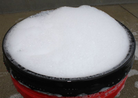 Your 5 Gallon Wash Bucket will be overflowing with foam!