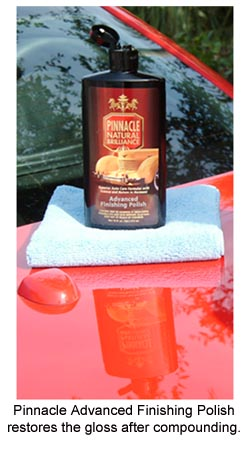Pinnacle Advanced Finishing Polish restores the paint's gloss after swirl removal.
